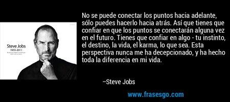 Steve Jobs. Conectando puntos