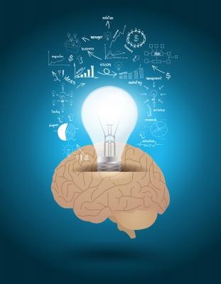 Cerebro expuesto a información en busca de ideas