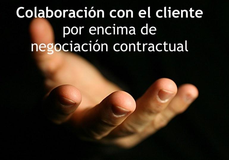 Colaboración con el cliente por encima de negociación contractual