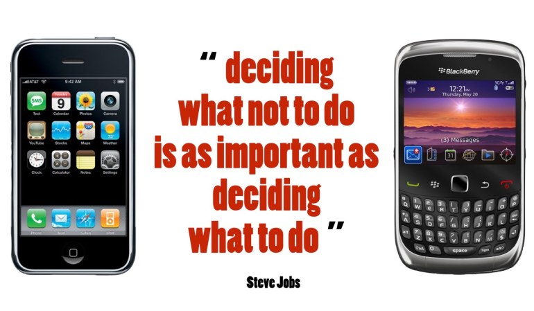 Deciding what not todo is as important as deciding what to do. Steve Jobs