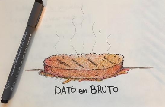 """Analogía """"Datos en bruto"""""""
