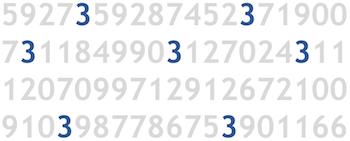 Ejemplo de Atributo preatentivo (2) : Color