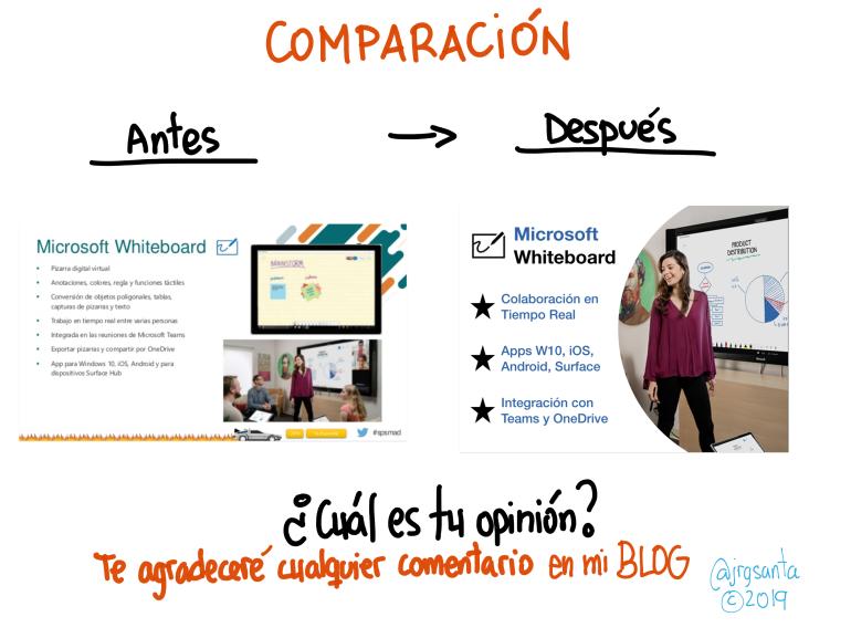 Comparación de la primera Slide con la solución alternativa.