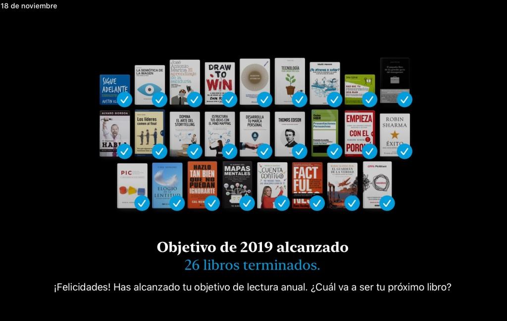 Objetivo de Lectura 2019